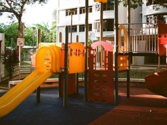 A playground shot on Kodak Ektar 100 film.