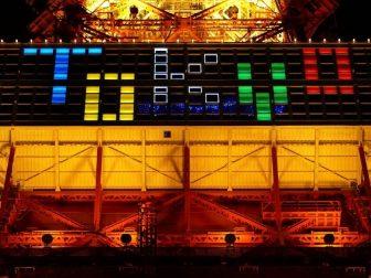 Tokyo tower olympic lighting