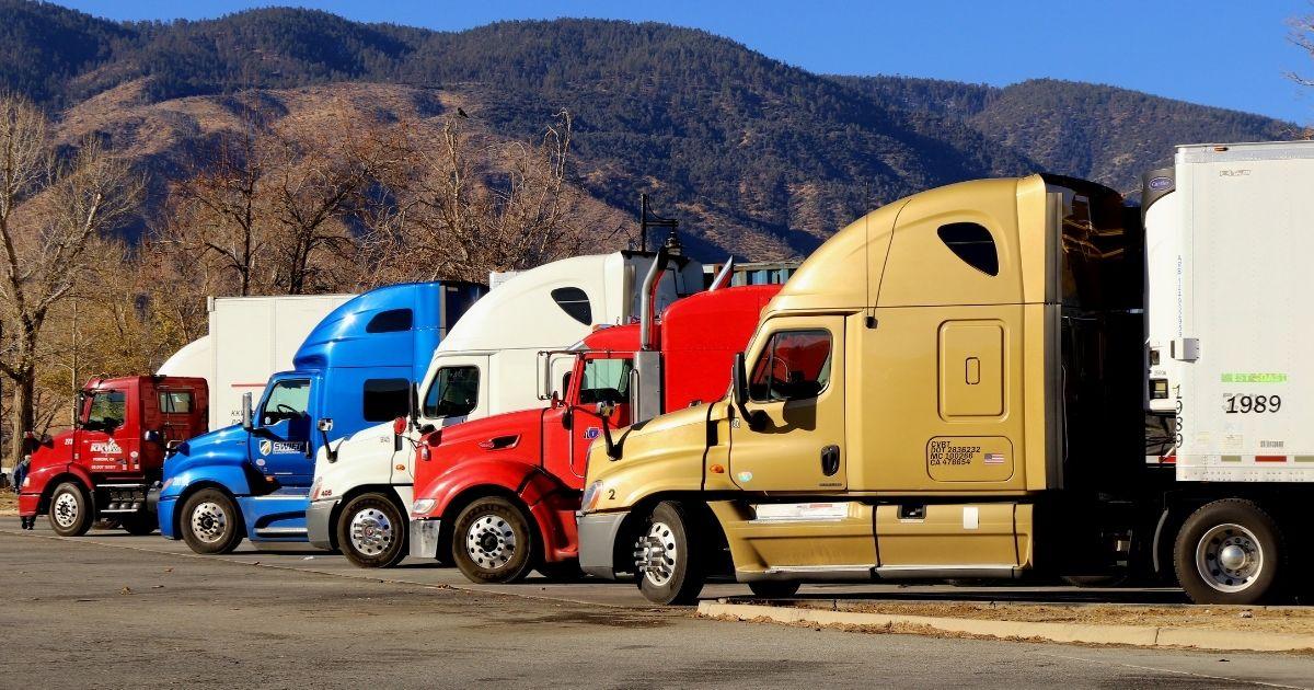 Colorful Semi-Trucks