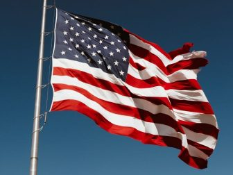 The above stock photo shows the American flag.