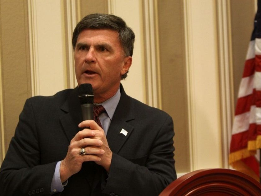 Bob Ehrlich speaks at the 2013 Conservative Political Action Conference in National Harbor, Maryland.