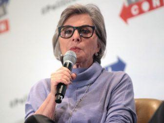 U.S. Senator Barbara Boxer speaking at the 2016 Politicon at the Pasadena Convention Center in Pasadena, California.