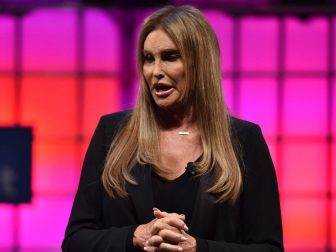 Caitlyn Jenner, Olympian & Advocate of Transgender Rights, on Centre Stage during day three of Web Summit 2017 at Altice Arena in Lisbon.