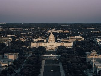 United States Capitol from top of the Washington Monument.