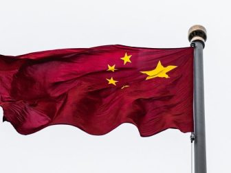 Chinese flag in Shanghai