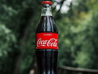 Glass bottle of Coca-Cola