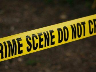 strip of yellow tape denoting crime scene