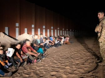 Large groups of illegal aliens were apprehended by Yuma Sector Border Patrol agents near Yuma, AZ on June 4, 2019. The Yuma Sector continues to see a large number of Central Americans per day crossing illegally and surrendering to agents. CBP photo by Jerry Glaser.