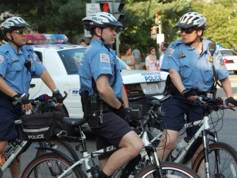 Capitol police on bicycles