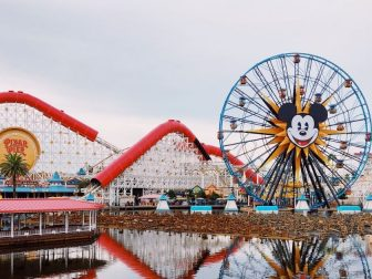 Disneyland Ferris wheel over the water