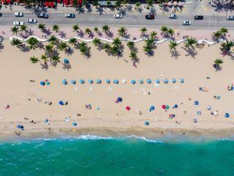 Aerial photo of Fort Lauderdale beach