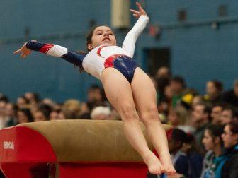 Gymnast on the vault