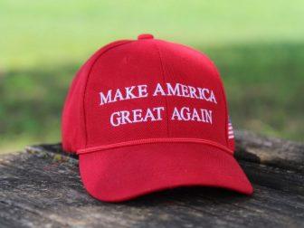 Trump Hat on wood