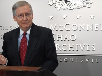 """Sen. Mitch McConnell tweeted, """"The Democrat's big idea is to try and inflate their way out of inflation."""""""