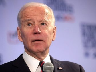 Former Vice President of the United States Joe Biden speaking with attendees at the 2020 Iowa State Education Association (ISEA) Legislative Conference at the Sheraton West Des Moines Hotel in West Des Moines, Iowa