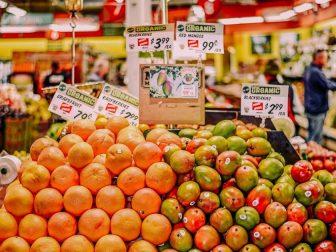 Organic fruit section