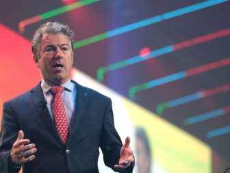 U.S. Senator Rand Paul speaking with attendees at the 2020 Student Action Summit hosted by Turning Point USA at the Palm Beach County Convention Center in West Palm Beach, Florida