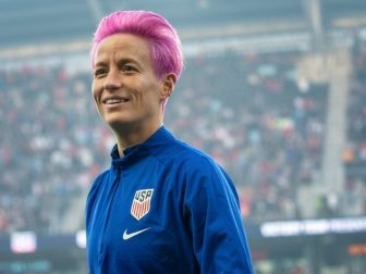 The US Women's National Team Victory Tour 2019 at Allianz Field in St Paul, Minnesota on 9/3/19; the US beat Portugal 3-0