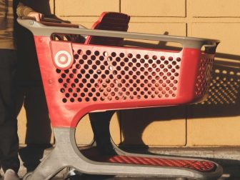 Red shopping cart from target