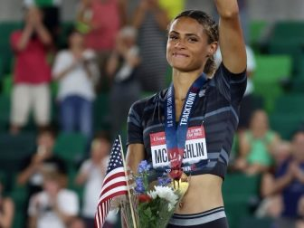 Sydney McLaughlin set a world record for the 400m hurdle.