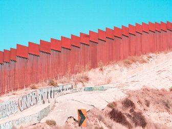 Border wall in Tijuana, CA