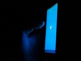 Twitter splash screen on a smart phone