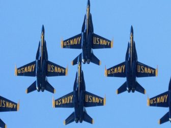 The U.S. Navy Blue Angels rehearse for Seafair on Aug. 3, 2012.