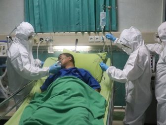 simulated covid-19 patients in the ICU room of one of the Central Java hospitals
