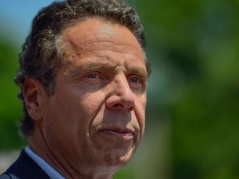 New York Democrat Gov. Andrew Cuomo delivers remarks at the start of the Little Neck Douglaston Memorial Day Parade on Monday, May 26, 2014.