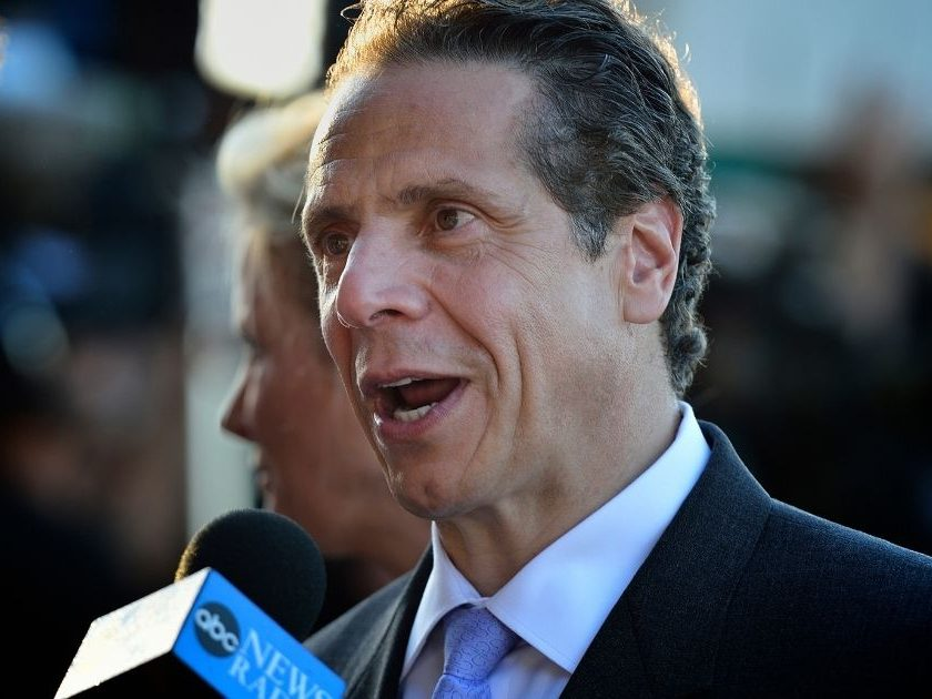 Democratic New York Gov. Andrew Cuomo at Belmont Stakes on June 7, 2014.
