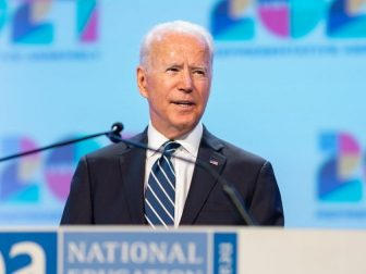 President Joe Biden delivers remarks at the National Education Association (NEA) 2021 Virtual Representative Assembly, Friday, July 2, 2021, at the Washington Convention Center in Washington, D.C. (Official White House Photo by Adam Schultz)