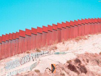 Border wall near Tijuana