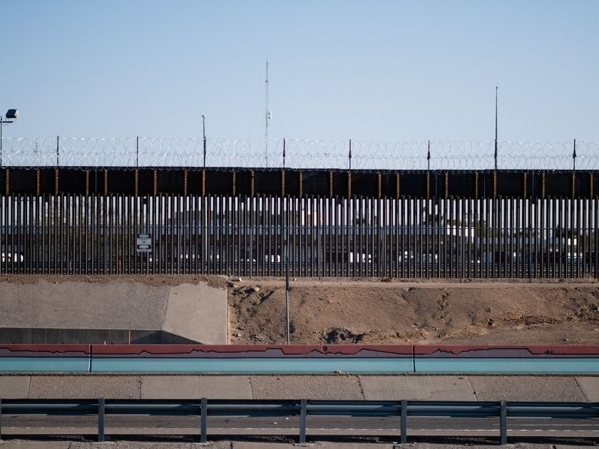 The border wall between the United States and Mexico in El Paso, Texas.