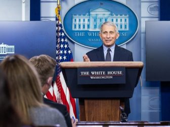 Chief Medical Advisor to the President Dr. Anthony Fauci participates in a briefing Thursday, Jan. 21, 2021, in the James S. Brady Press Briefing Room of the White House.