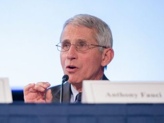 """Fogarty held its 50th anniversary symposium, """"What are the new frontiers in global health research?"""" on May 1, 2018, at NIH in Bethesda, Maryland. The tools exist to bring the end of HIV/AIDS but implementation must be improved, said National Institute of Allergy and Infectious Diseases Director Dr. Anthony S. Fauci."""