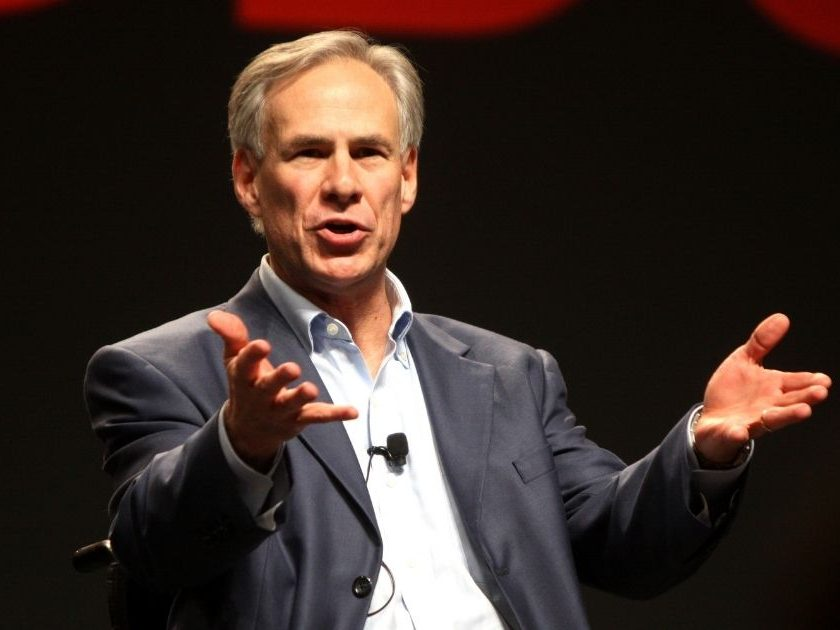 Republican Gov. Greg Abbott of Texas speaking at FreePac, hosted by FreedomWorks, in Phoenix.