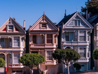 A block of houses on a San Francisco street on March 12, 2017.