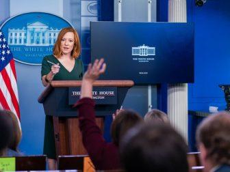 Press Secretary Jen Psaki holds a Press Briefing on Thursday, June 3, 2021, in the James S. Brady White House Press Briefing Room. (Official White House Photo by Cameron Smith)