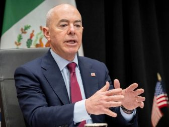 Washington, D.C. (May 28, 2021) Homeland Security Secretary Alejandro Mayorkas meets virtually with Ambassador of Mexico to the United States Esteban Moctezuma.