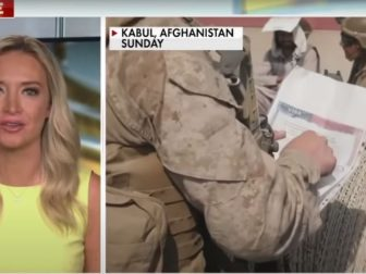 Former White House press secretary Kayleigh McEnany speaks to the American troop withdrawal in Afghanistan on Fox News on Monday.