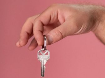 Person Holding a Key