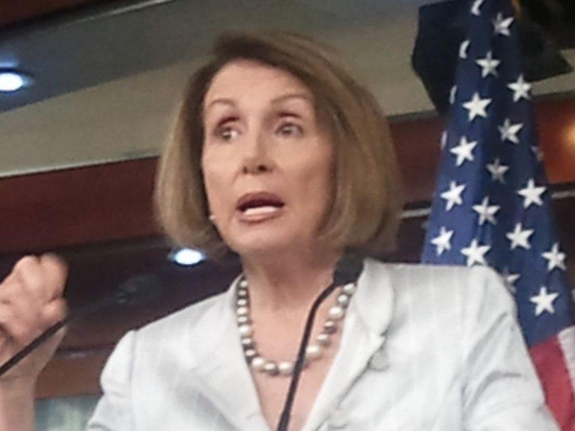 Democratic House Minority Leader Nancy Pelosi of California talks about job growth.