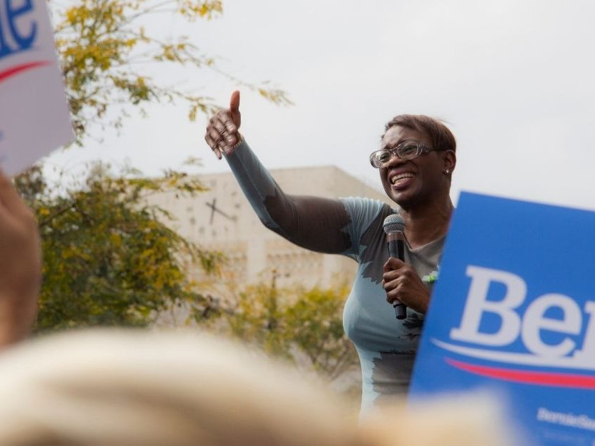 Nina Turner is pictured above.