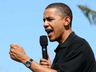 The above photo shows former president Barack Obama at Keehi Lagoon Beach Park in Honolulu, Hawaii.