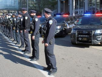 Akron Police Funeral Procession