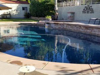 Backyard pool in California