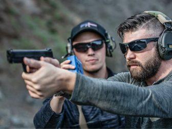Man at a shooting range