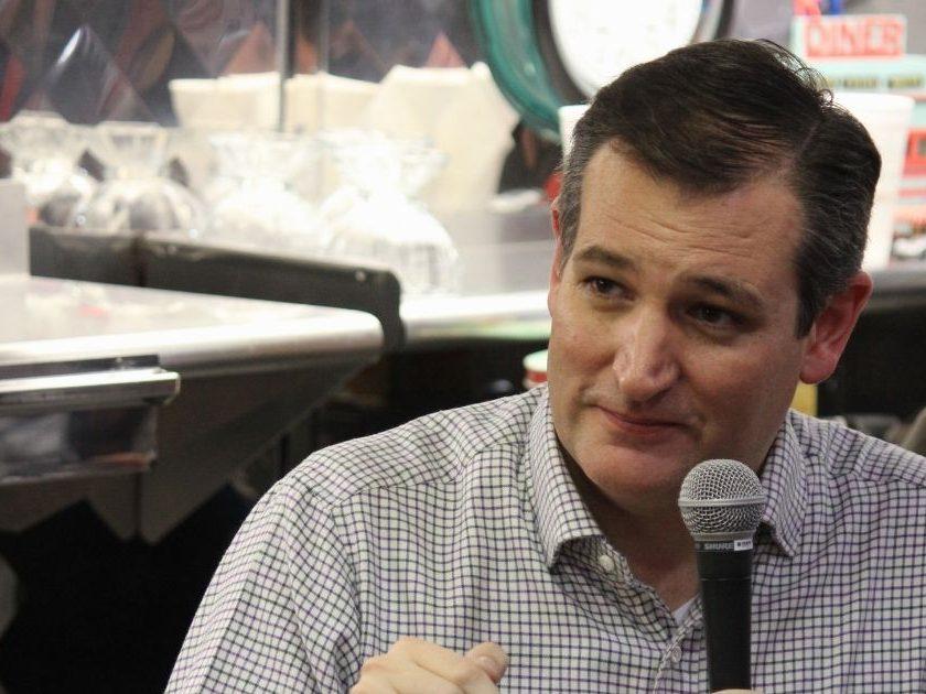 Republic Ted Cruz of Texas speaks to supporters in Missouri Valley, Iowa on Jan. 4, 2016.