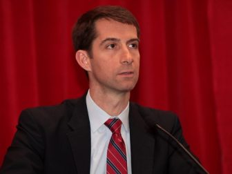 U.S. Senator Tom Cotton of Arkansas speaking at the 2015 Conservative Political Action Conference (CPAC) in National Harbor, Maryland.