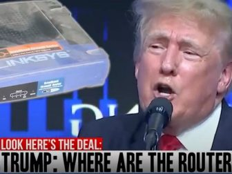 Some creative folks put together a rap video of former President Donald Trump calling out Maricopa County, Arizona, officials for not turning over the routers used in the November general election in defiance of state Senate subpoenas.